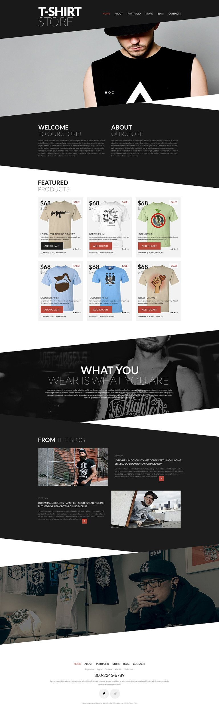 Trendy TShirts WooCommerce Theme New Screenshots BIG