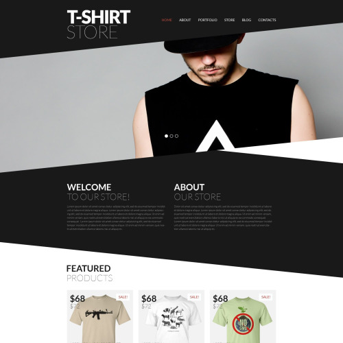 T-shirt Store - WooCommerce Template based on Bootstrap
