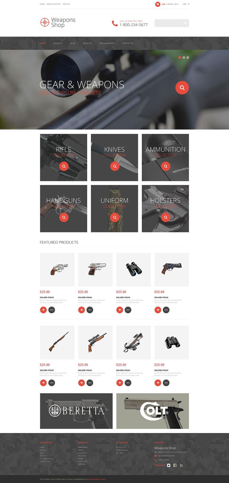 Weapon Shop Shopify Theme New Screenshots BIG