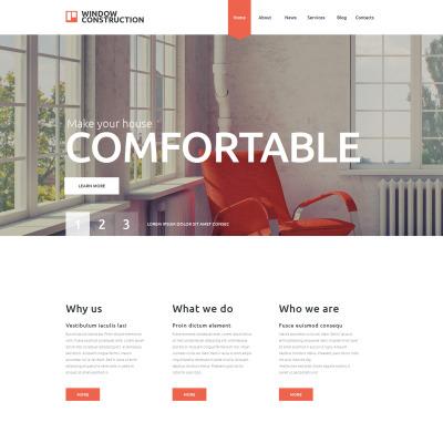 Responsive Website Vorlage für Fenster