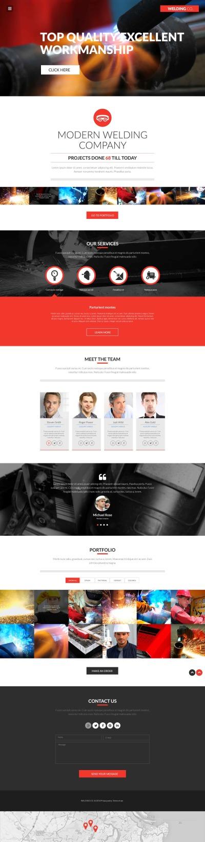 Flexível template Web №52396 para Sites de Soldagem