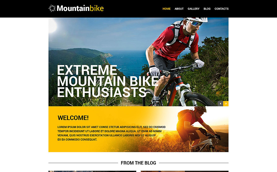Responsive Website template over Fietsen  New Screenshots BIG