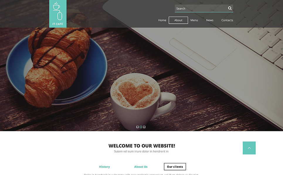 Responsive Website Vorlage für Café  New Screenshots BIG