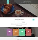 Cafe & Restaurant Website  Template 52404
