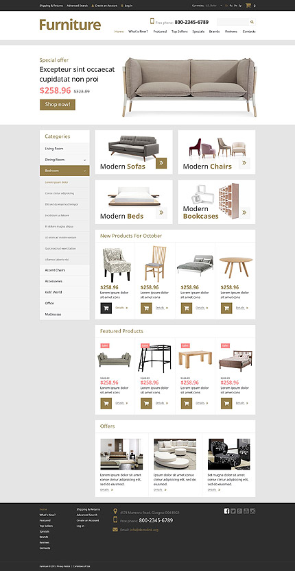 osCommerce Template 52417 Main Page Screenshot
