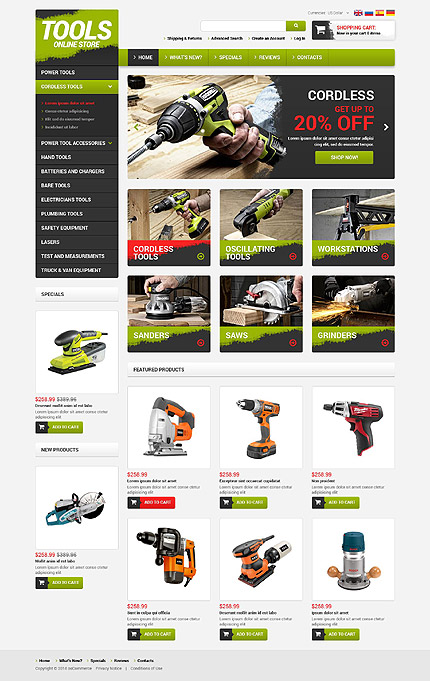 osCommerce Template 52419 Main Page Screenshot