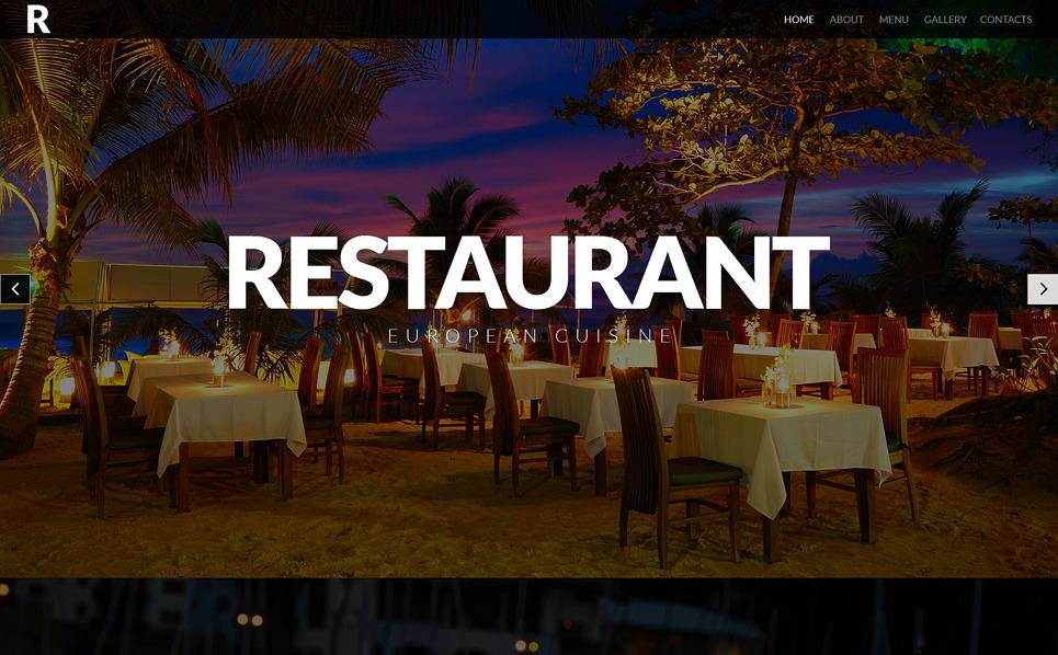 Responsywny szablon strony www #52421 na temat: restauracja europejska New Screenshots BIG