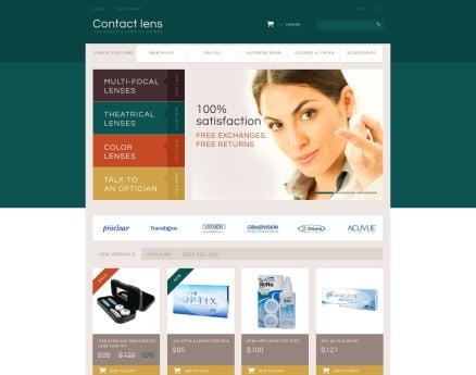 Contact Lens Store PrestaShop Theme