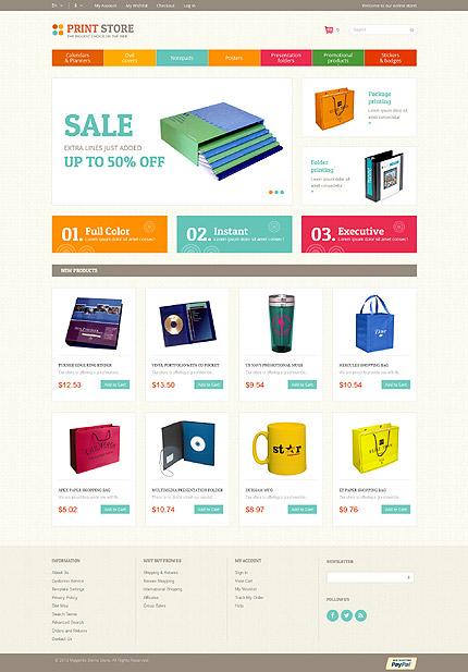 Magento Theme/Template 52429 Main Page Screenshot