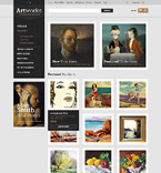 Art & Photography ZenCart  Template 52433
