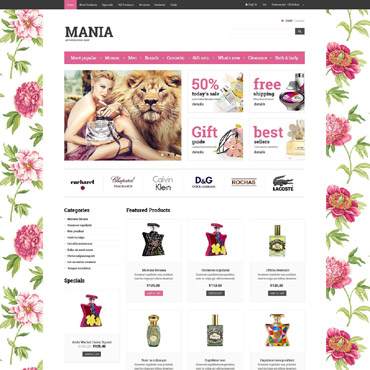 Preview image of Beauty ZenCart Template No. 52434