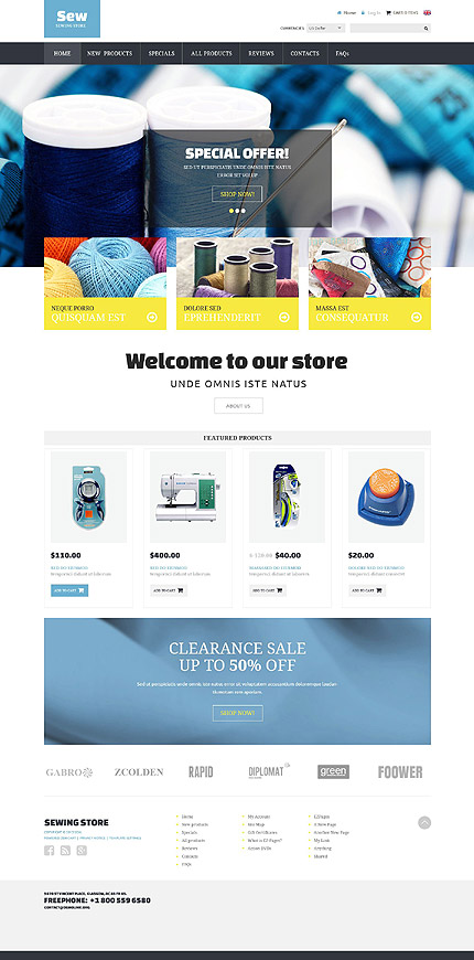 ZenCart Template 52435 Main Page Screenshot