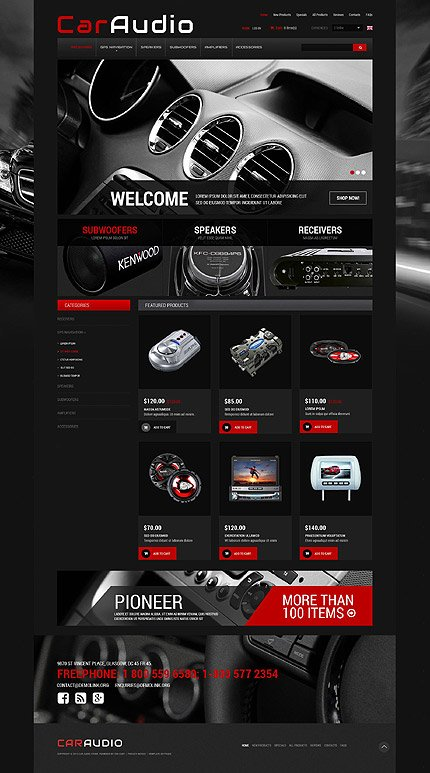 ZenCart Template 52436 Main Page Screenshot