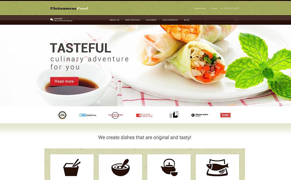 Responsive WordPress thema over Aziatisch Restaurant New Screenshots BIG