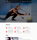 Sport Website  Template 52445