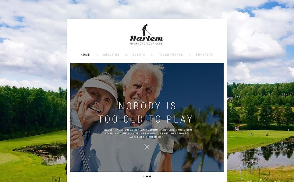 Responsive Website template over Golf New Screenshots BIG