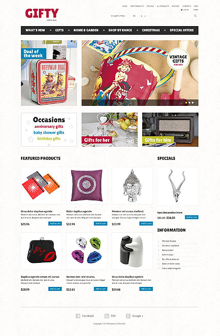 ZenCart Template 52463 Main Page Screenshot