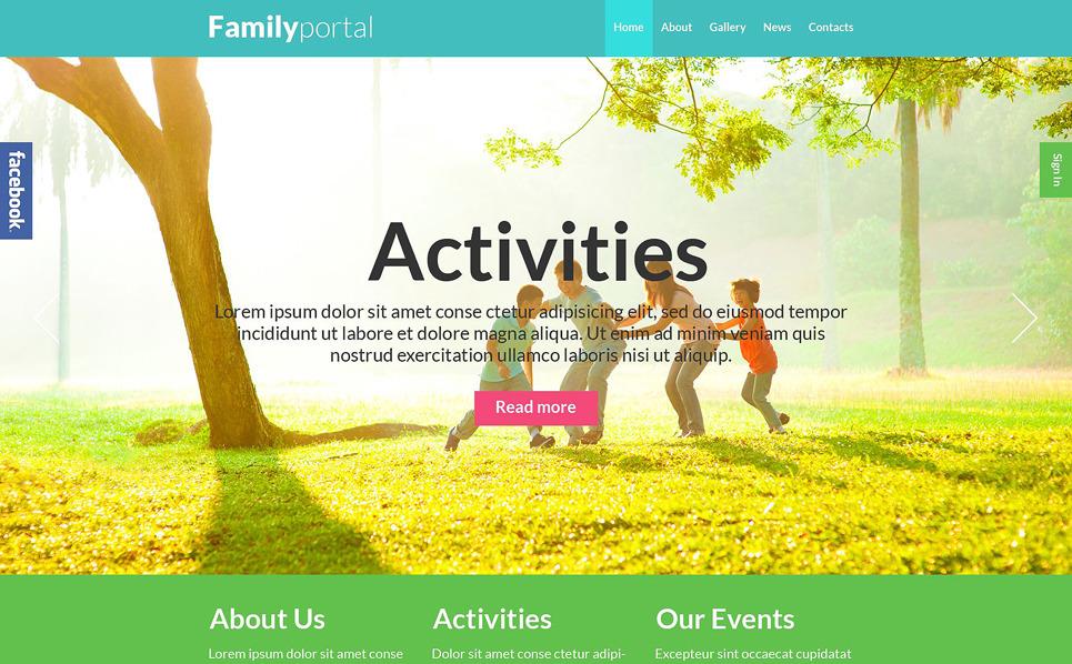 Responzivní WordPress motiv na téma Rodina New Screenshots BIG