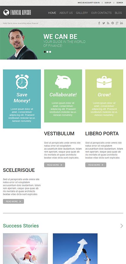WordPress Theme/Template 52470 Main Page Screenshot