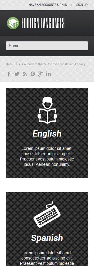 WordPress Theme/Template 52471 Main Page Screenshot