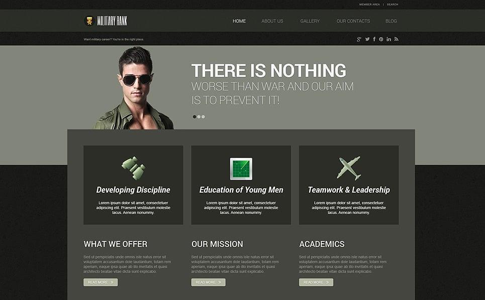 Responzivní WordPress motiv na téma Vojenské New Screenshots BIG