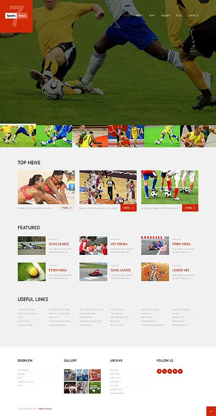 WordPress Theme/Template 52474 Main Page Screenshot