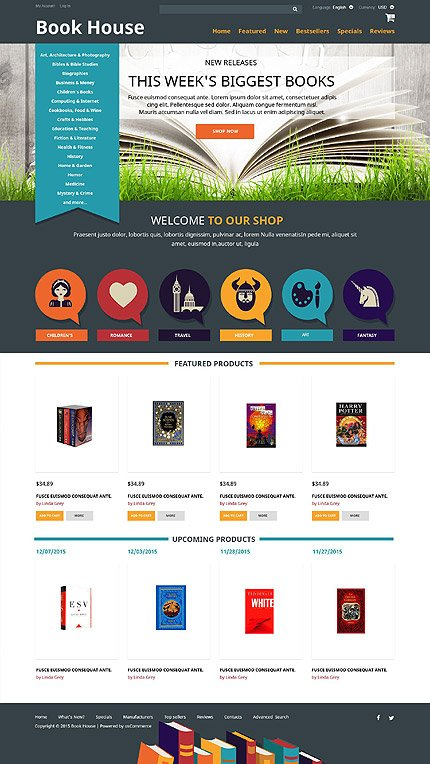 osCommerce Template 52482 Main Page Screenshot