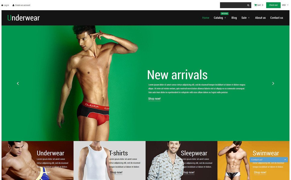 Responsive Shopify Thema over Herenondergoed  New Screenshots BIG