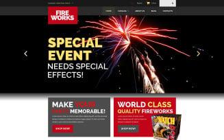Spectacular Fireworks VirtueMart Template
