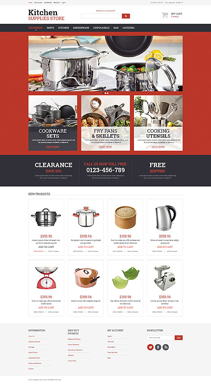 Magento Theme/Template 52485 Main Page Screenshot