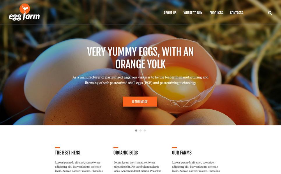 Reszponzív Baromfi farm Weboldal sablon New Screenshots BIG