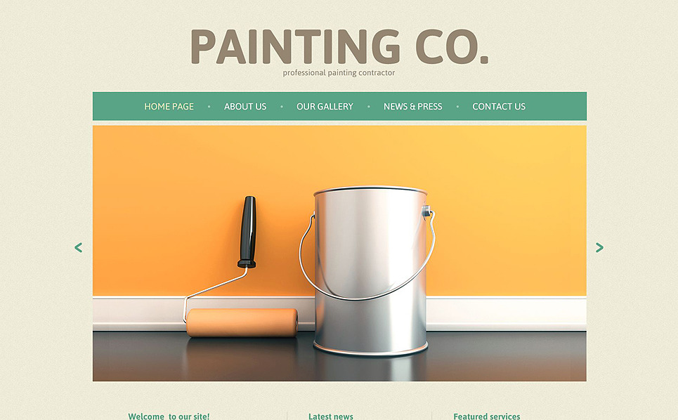 Адаптивний Шаблон сайту на тему фарбування New Screenshots BIG