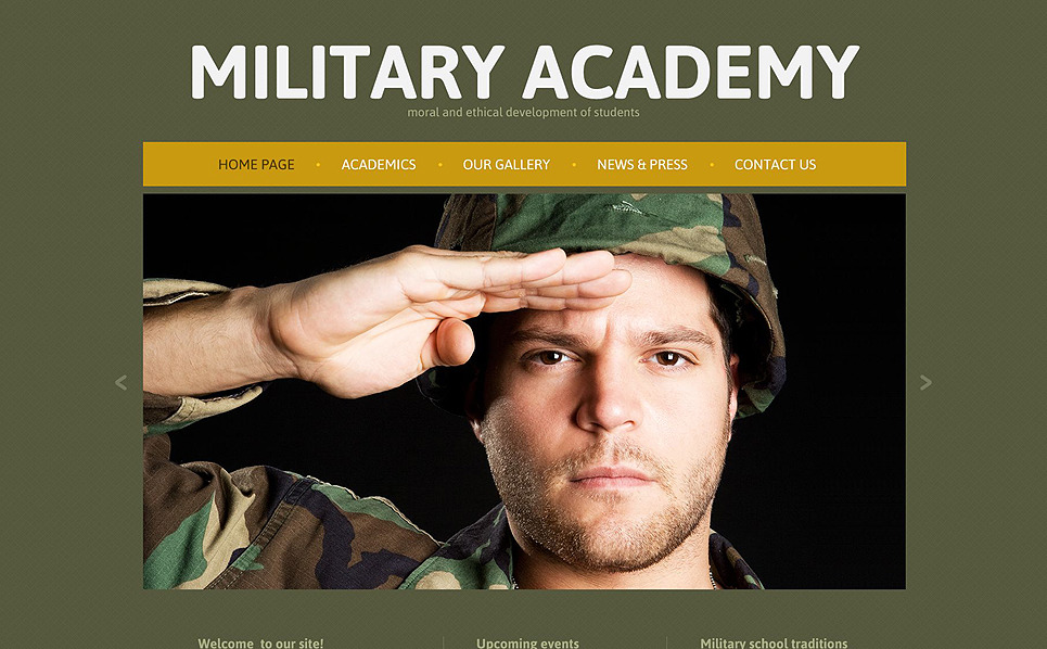 Responsive Website template over Militaire New Screenshots BIG