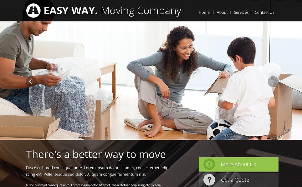 Responsywny szablon strony www #52496 na temat: firma przeprowadzkowa New Screenshots BIG
