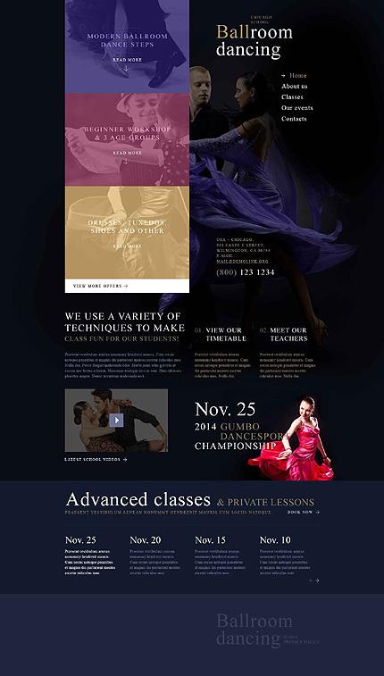 Dance Room Website Template