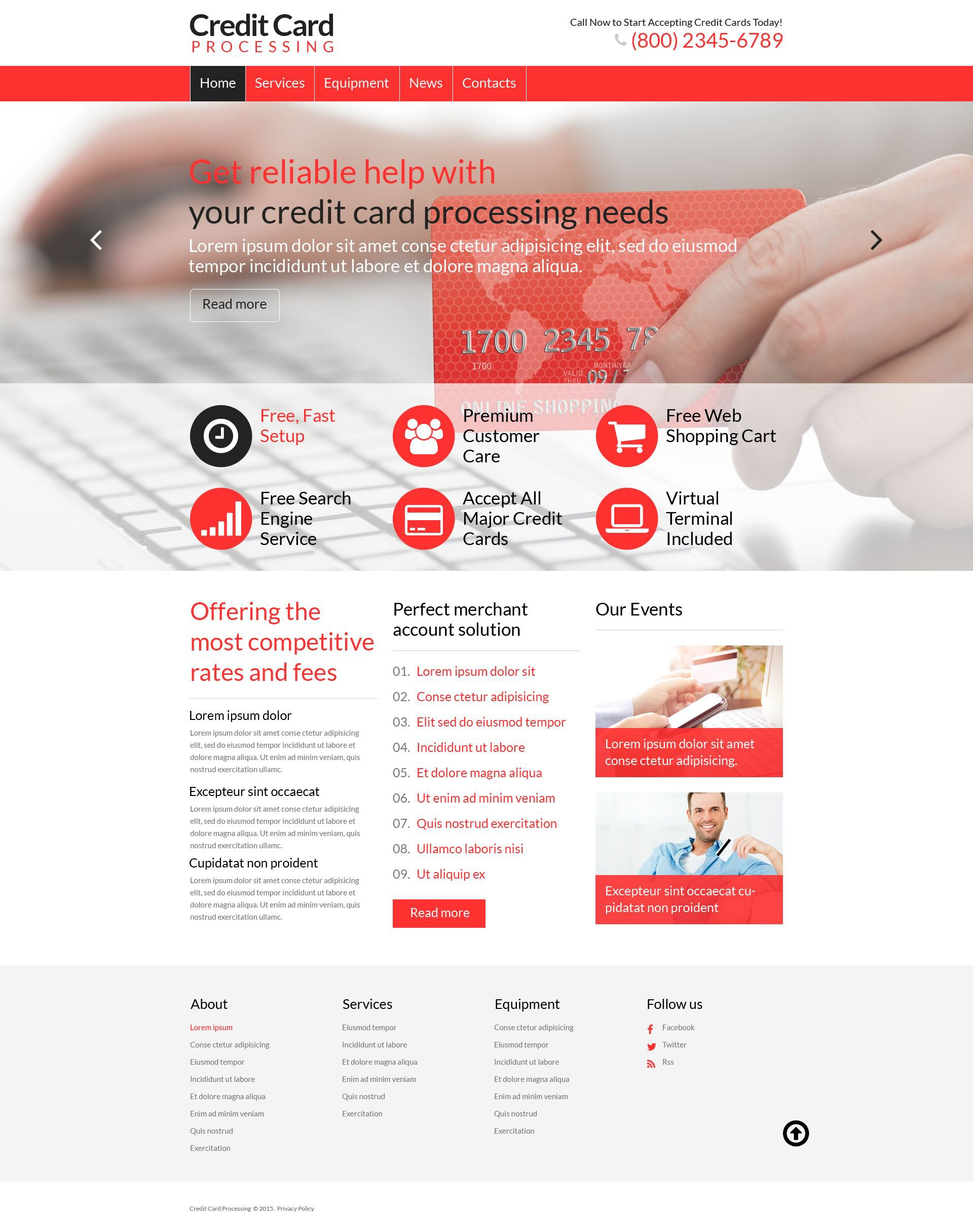 Accounting WordPress Theme - screenshot