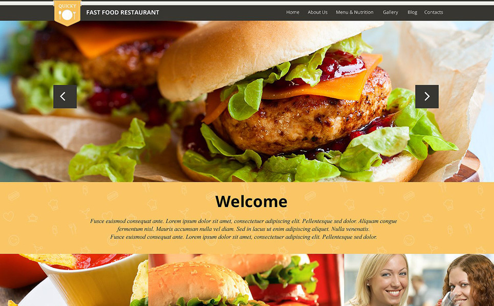 Адаптивний WordPress шаблон на тему фастфуд New Screenshots BIG