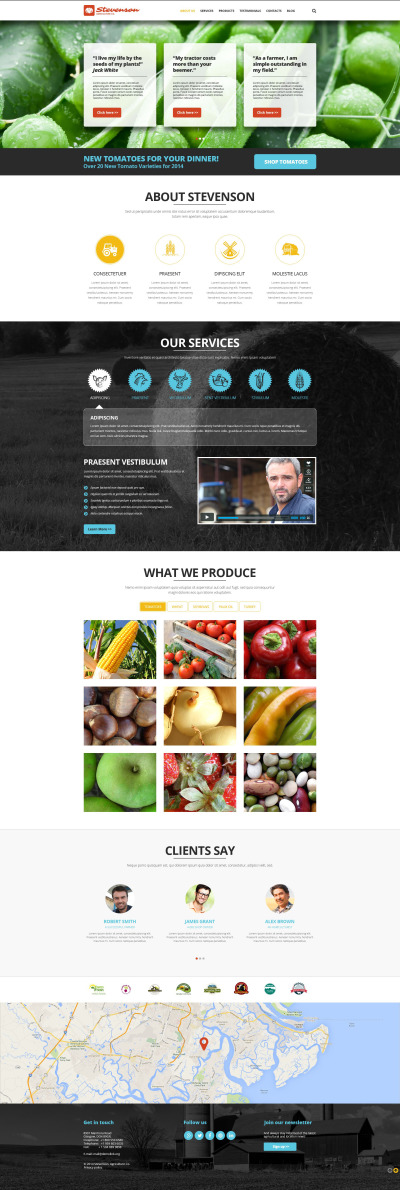 Адаптивный Joomla шаблон №52416 на тему сельское хозяйство