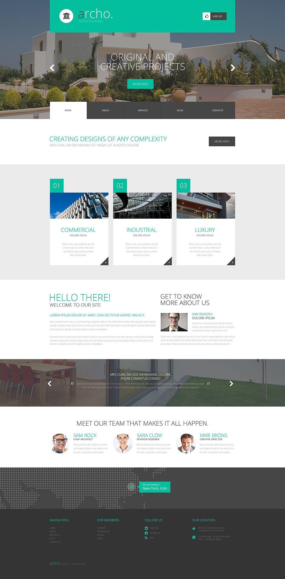 Адаптивный шаблон сайта на тему архитектура #52424