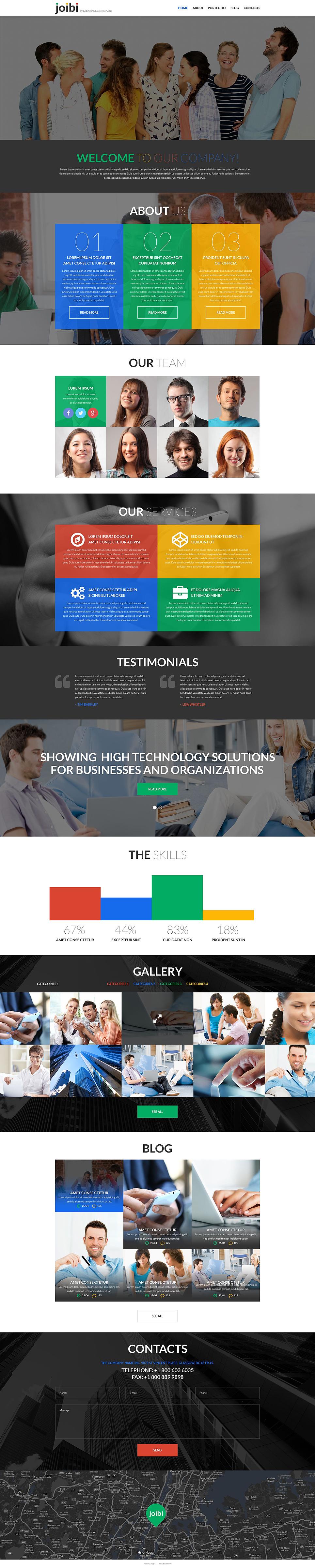 Адаптивный шаблон сайта на тему бизнес и услуги #52442