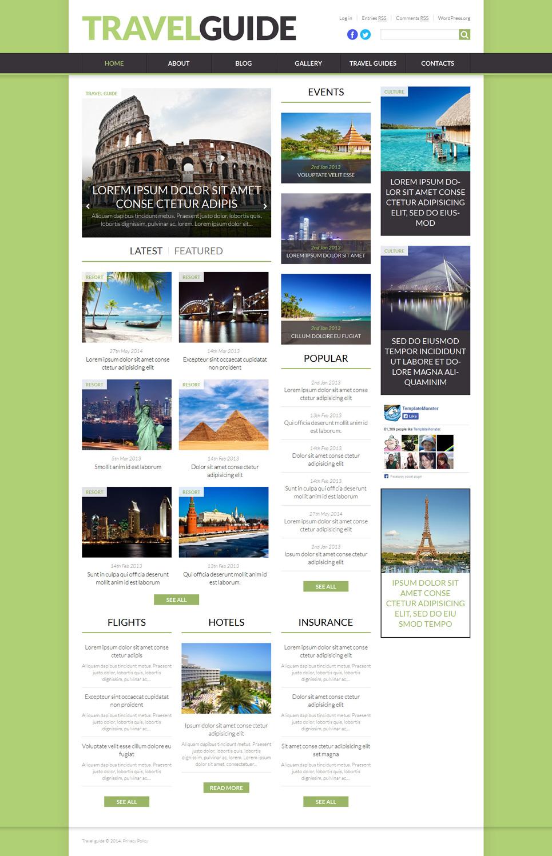 Адаптивный шаблон сайта на тему путеводитель #52457