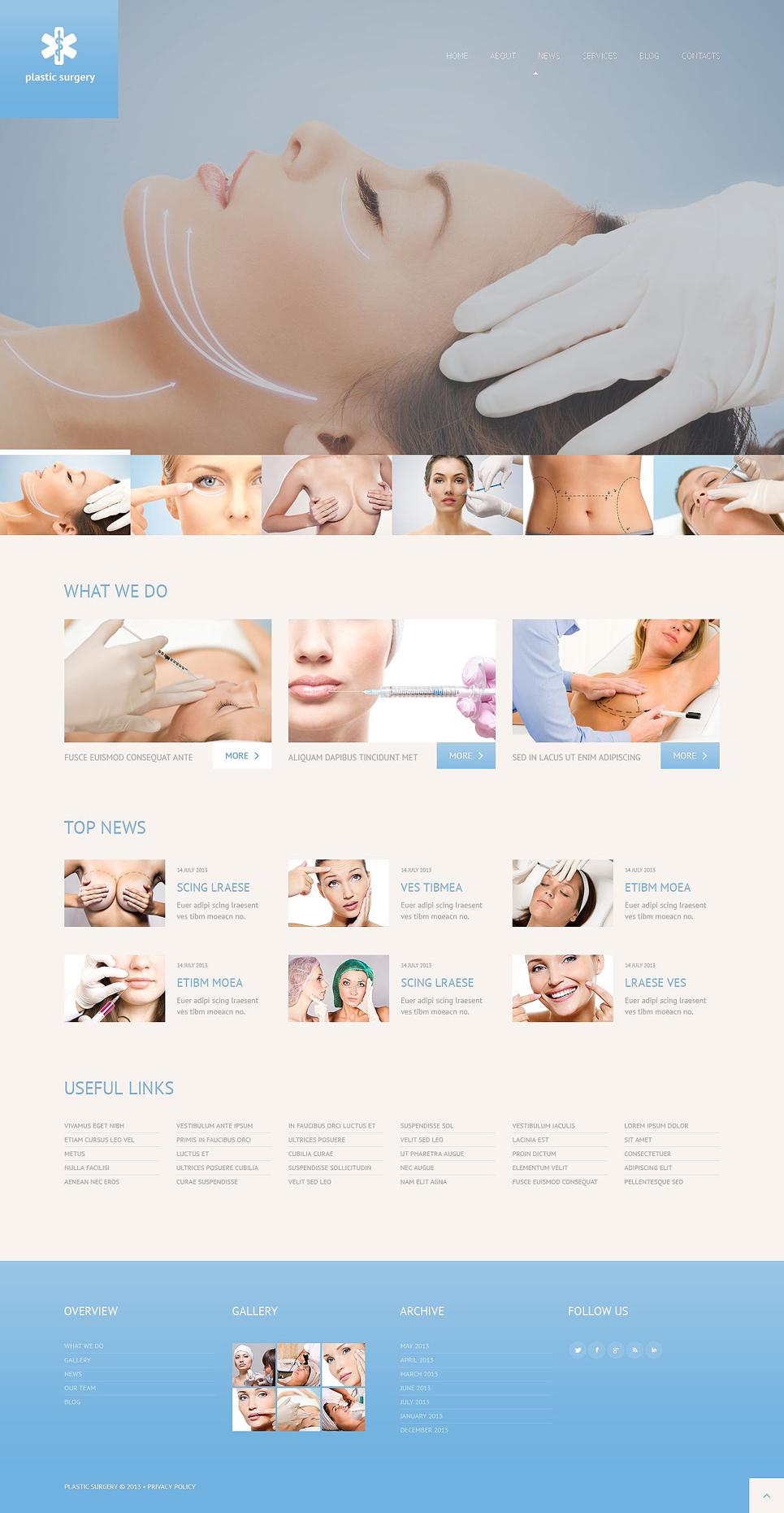Адаптивный шаблон сайта на тему пластическая хирургия #52477