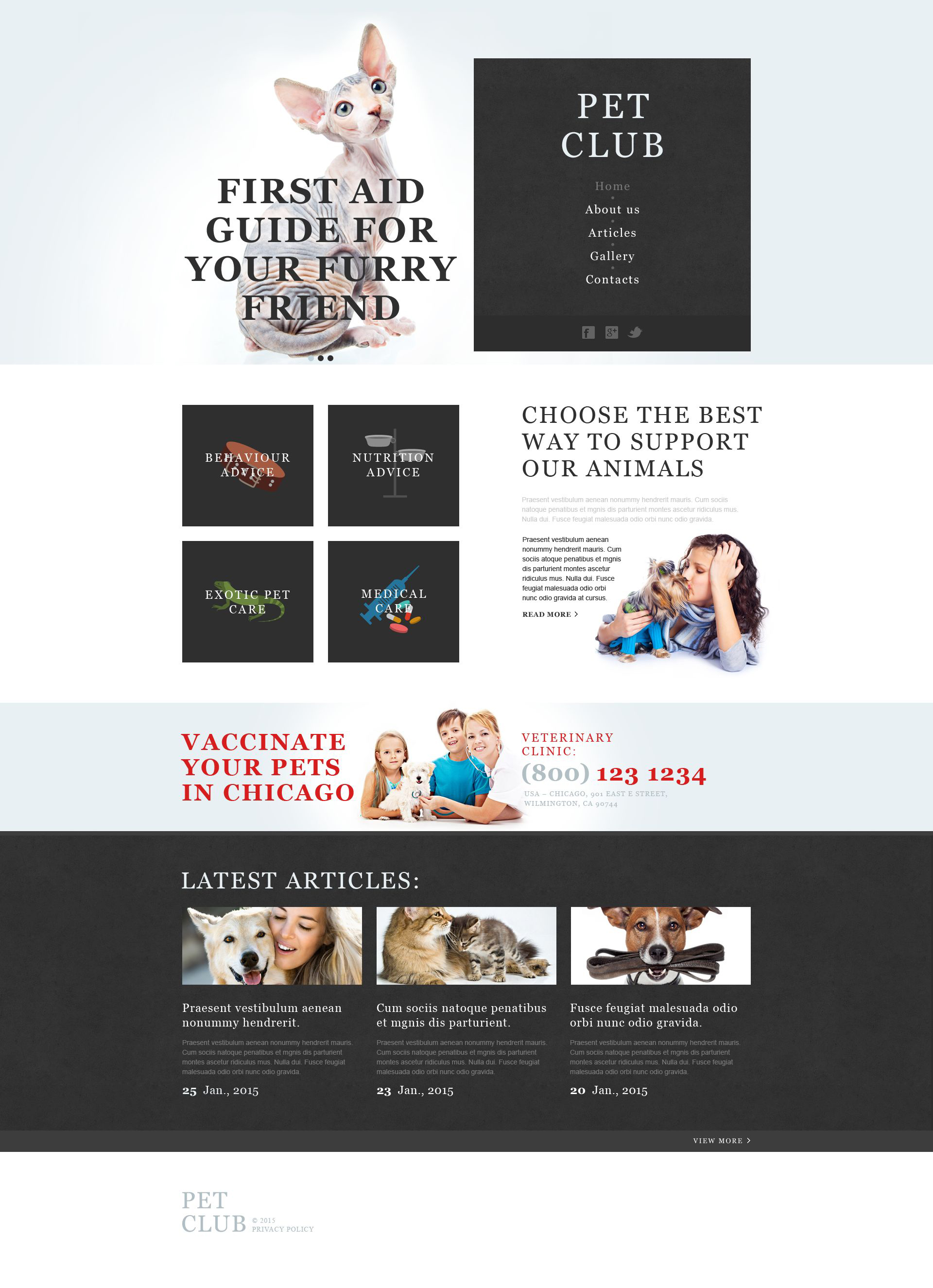 Animals & Pets Muse Template