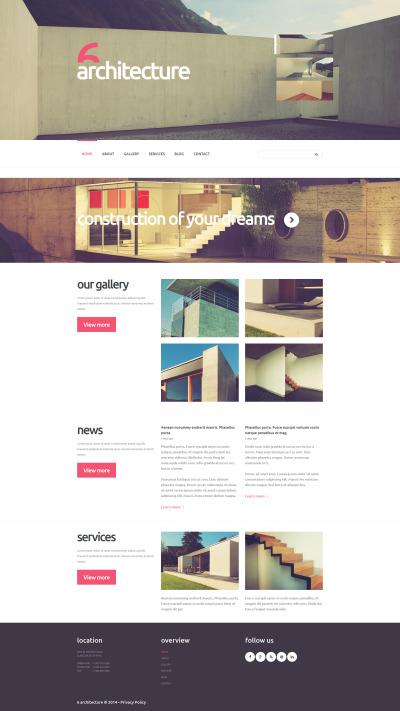 Thème Joomla adaptatif  pour site d'architecture