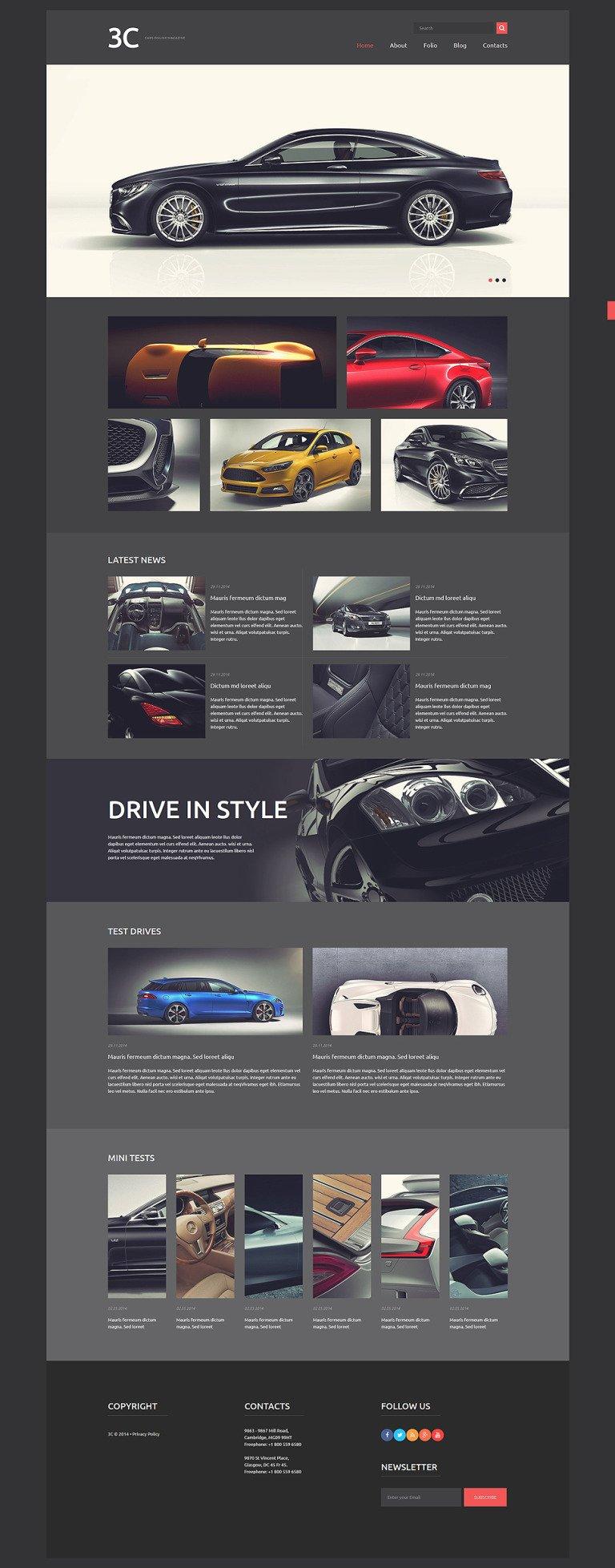 Auto Enthusiasts Club Joomla Template New Screenshots BIG