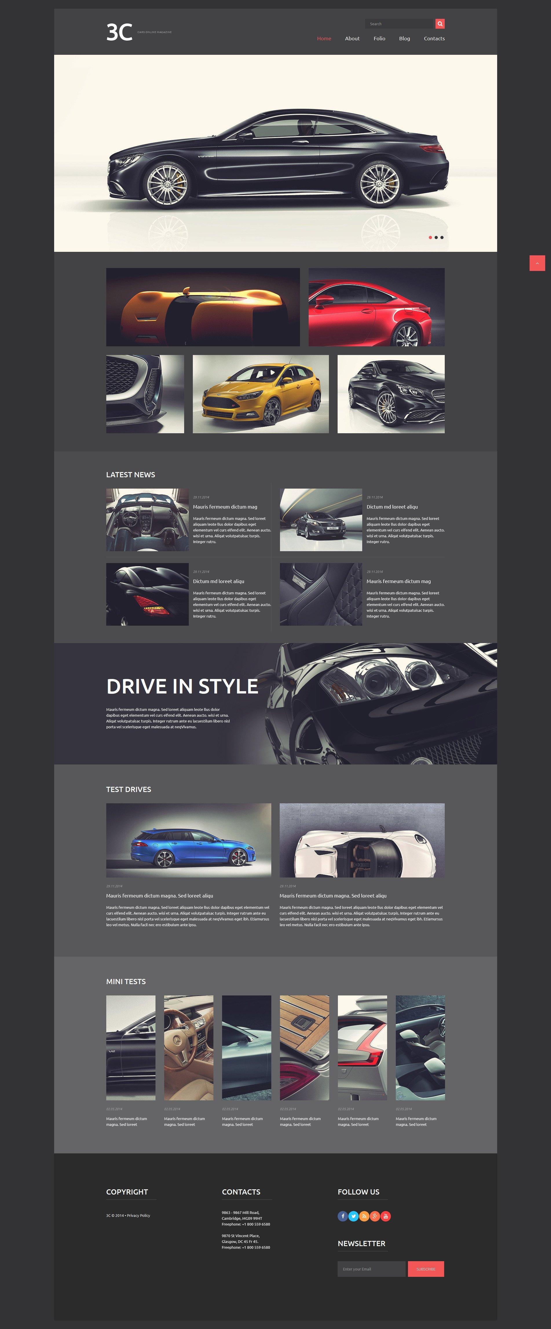 """Auto Enthusiasts Club"" thème Joomla adaptatif #52415"
