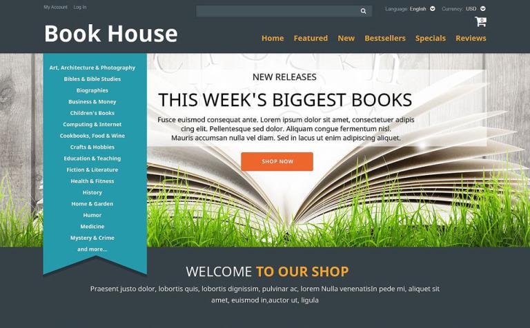 Book shop oscommerce template 52482 book shop oscommerce template new screenshots big maxwellsz