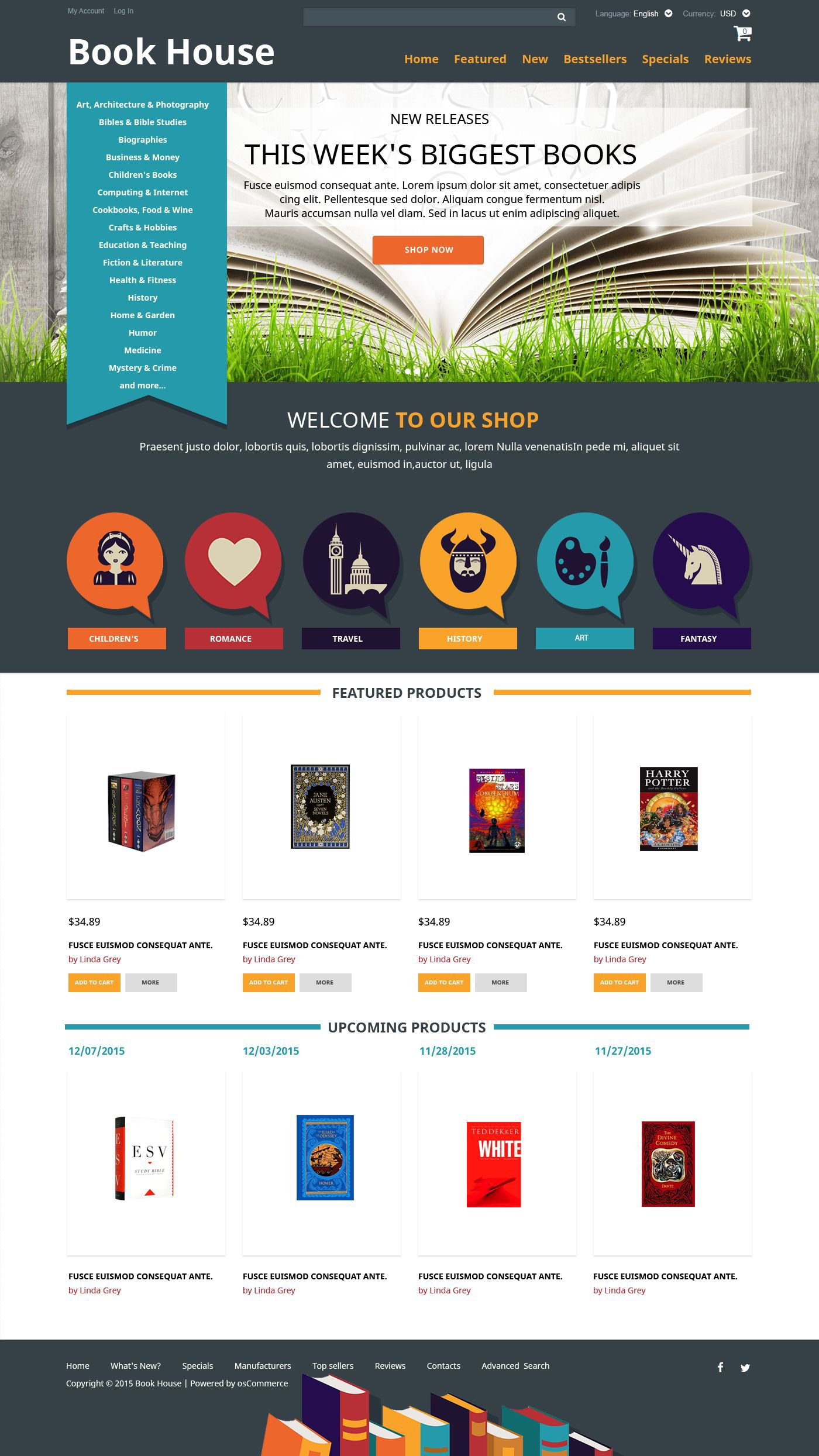 book shop oscommerce template 52482 rh templatemonster com Microsoft Brochure Template osCommerce Themes Food