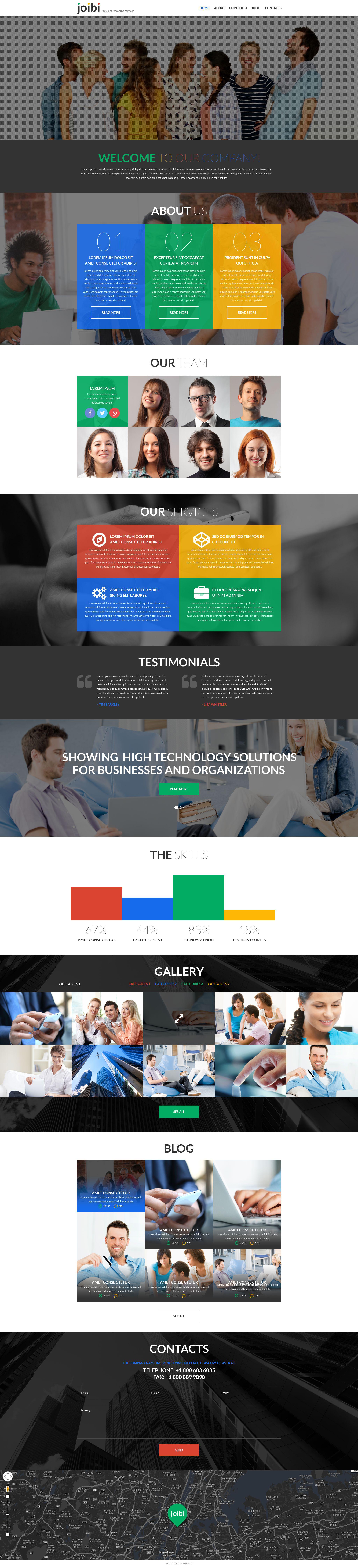"""Business Services Promotion"" - адаптивний WordPress шаблон №52442 - скріншот"
