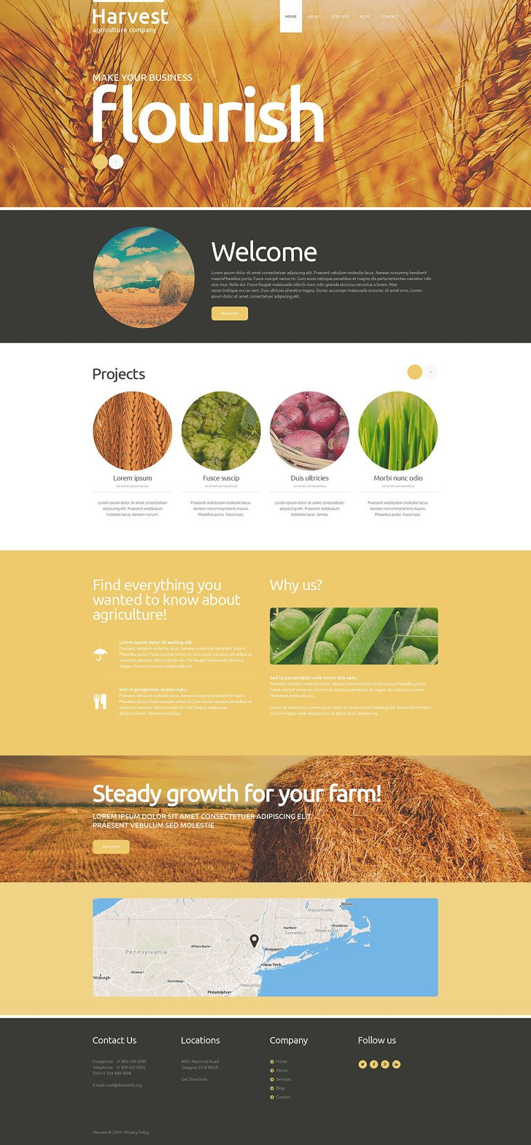 Buy Grow Harvest Team Joomla Template New Screenshots BIG